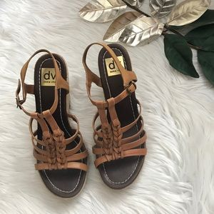 Dolce Vita Tan Braided Wedge Sandals